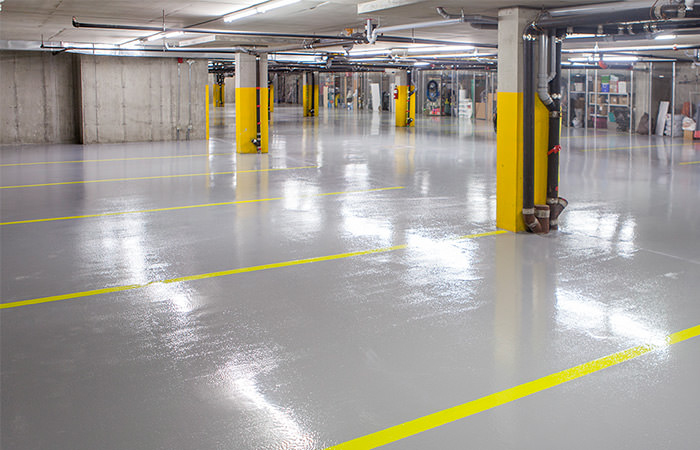 Garage commercial epoxy